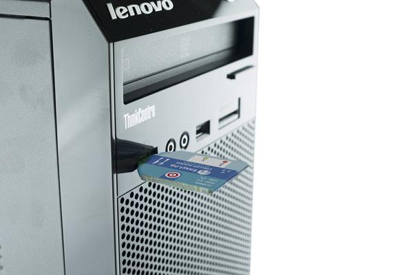 Rejestrator jednorazowy EL CC 2 w komputerze