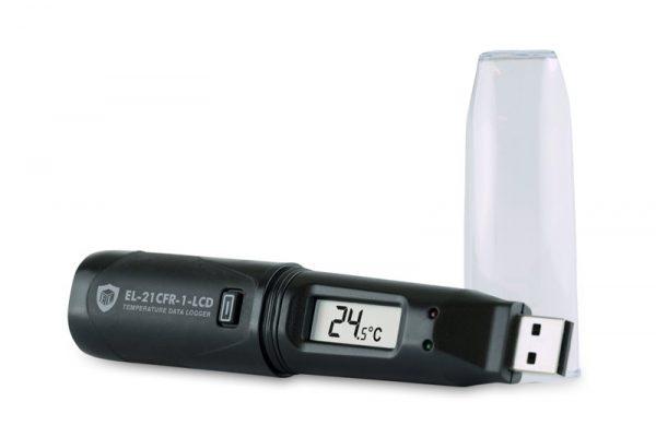 Rejestrator temperatury EL 21CFR 1 LCD